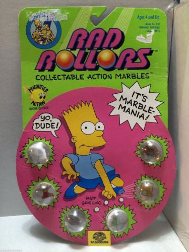 (TAS006896) - 1990 Spectra Star Rad Rollors Action Marbles - The Simpsons, , Marbles, Spectra Star, The Angry Spider Vintage Toys & Collectibles Store