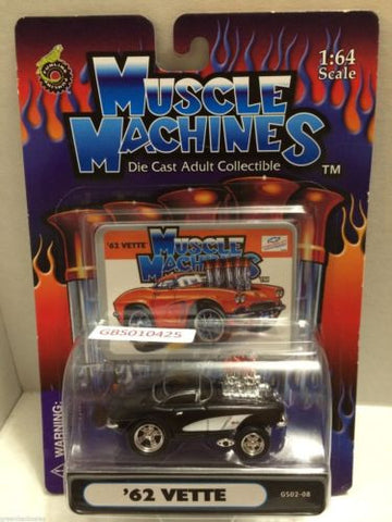 (TAS030775) - Muscle Machines Die Cast Car - '62 Vette, , Cars, Muscle Machines, The Angry Spider Vintage Toys & Collectibles Store