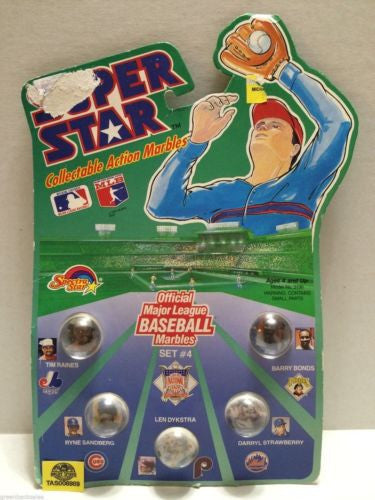 (TAS006989) - 1990 Spectra Star Super Star Baseball Marbles - Set #4, , Marbles, Spectra Star, The Angry Spider Vintage Toys & Collectibles Store