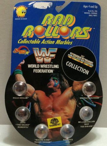 (TAS006787) - 1990 Spectra Star WWF Wrestling Rad Rollors Marbles - Hogan, , Marbles, Spectra Star, The Angry Spider Vintage Toys & Collectibles Store