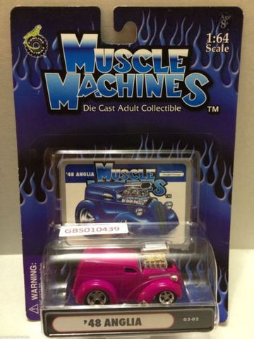 (TAS030788) - Muscle Machines Die Cast Car - '48 Anglia, , Cars, Muscle Machines, The Angry Spider Vintage Toys & Collectibles Store