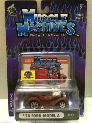 (TAS030821) - Muscle Machines Die Cast Car - '28 Ford Model A, , Cars, Muscle Machines, The Angry Spider Vintage Toys & Collectibles Store
