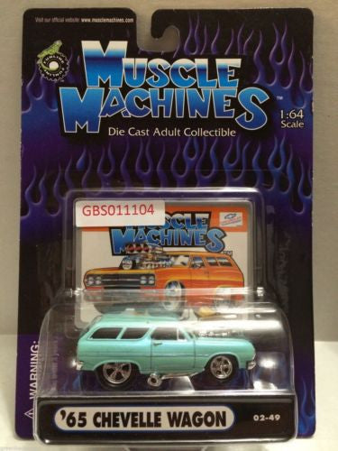(TAS030792) - Muscle Machines Die Cast Car - '65 Chevelle Wagon, , Cars, Muscle Machines, The Angry Spider Vintage Toys & Collectibles Store