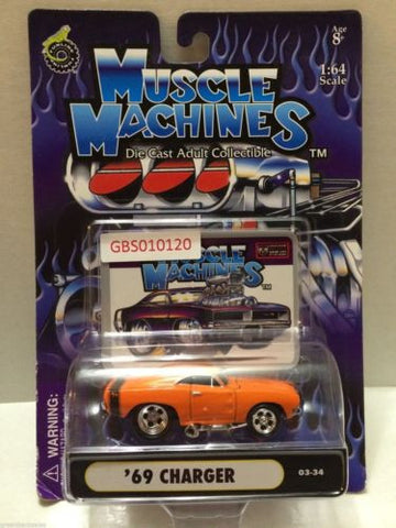 (TAS030771) - Muscle Machines Die Cast Car - '69 Charger, , Cars, Muscle Machines, The Angry Spider Vintage Toys & Collectibles Store
