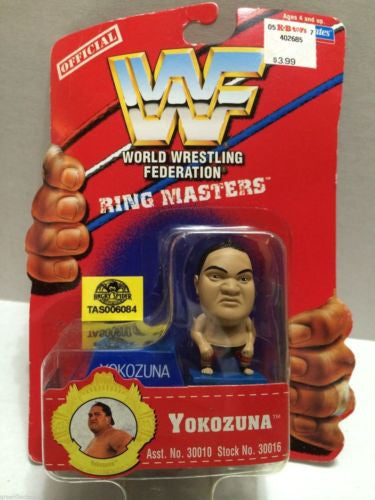 (TAS006084) - WWE WWF WCW nWo Wrestling Ring Masters Stand - Yokozuna, , Action Figure, Wrestling, The Angry Spider Vintage Toys & Collectibles Store