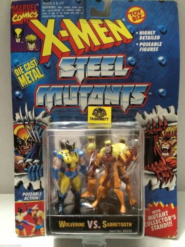 (TAS006577) - Marvel Comics X-Men Steel Mutants Wolverine vs. Sabretooth, , Action Figure, X-Men, The Angry Spider Vintage Toys & Collectibles Store