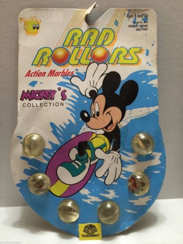(TAS006957) - 1990 Spectra Star Rad Rollors Action Marbles - Mickey's Collection, , Marbles, Spectra Star, The Angry Spider Vintage Toys & Collectibles Store