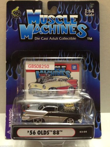 (TAS030799) - Muscle Machines Die Cast Car - '56 Olds 88, , Cars, Muscle Machines, The Angry Spider Vintage Toys & Collectibles Store