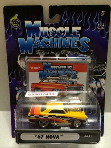 (TAS030785) - Muscle Machines Die Cast Car - '67 Nova, , Cars, Muscle Machines, The Angry Spider Vintage Toys & Collectibles Store