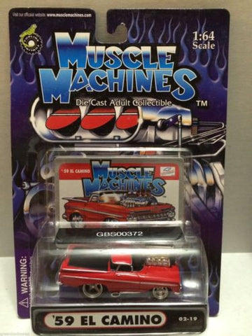 (TAS030757) - Muscle Machines Die Cast Car - '59 El Camino, , Cars, Muscle Machines, The Angry Spider Vintage Toys & Collectibles Store