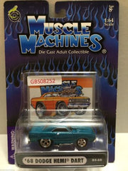 (TAS030801) - Muscle Machines Die Cast Car - '68 Dodge Hemi Dart, , Cars, Muscle Machines, The Angry Spider Vintage Toys & Collectibles Store