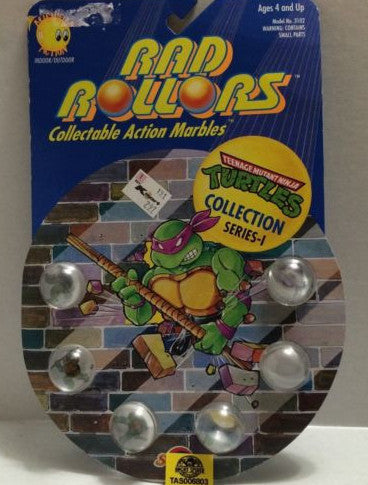 (TAS006803) - 1990 Spectra Star Rad Rollors Marbles Teenage Mutant Ninja Turtles, , Marbles, Spectra Star, The Angry Spider Vintage Toys & Collectibles Store