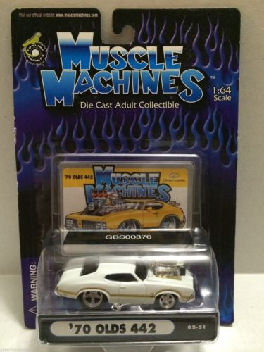 (TAS030759) - Muscle Machines Die Cast Car - '70 Olds 442, , Cars, Muscle Machines, The Angry Spider Vintage Toys & Collectibles Store