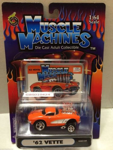 (TAS030774) - Muscle Machines Die Cast Car - '62 Vette, , Cars, Muscle Machines, The Angry Spider Vintage Toys & Collectibles Store