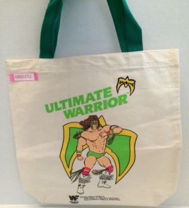 (TAS031370) - WWE WWF LJN Wrestling Superstars Tote Bag - The Ultimate Warrior, , Other, WWF, The Angry Spider Vintage Toys & Collectibles Store