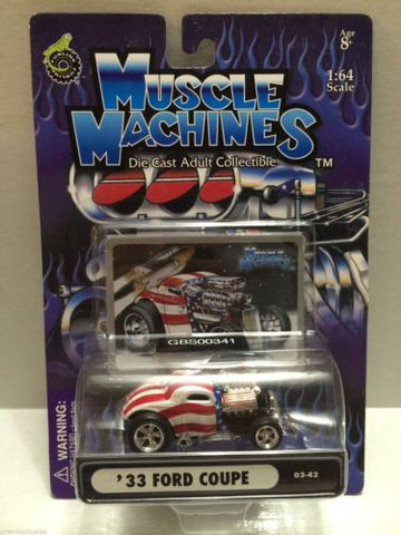 (TAS030748) - Muscle Machines Die Cast Car - '33 Ford Coupe, , Cars, Muscle Machines, The Angry Spider Vintage Toys & Collectibles Store