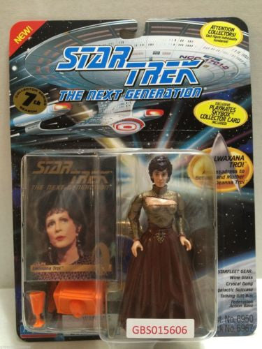 (TAS031230) - Playmates Star Trek Action Figure - Lwaxana Troi, , Action Figure, Star Trek, The Angry Spider Vintage Toys & Collectibles Store