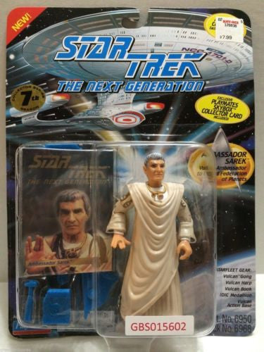 (TAS031226) - Playmates Star Trek Action Figure - Ambassador Sarek, , Action Figure, Star Trek, The Angry Spider Vintage Toys & Collectibles Store
