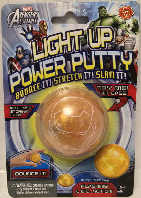 (TAS030178) - 2013 Zag Toys Marvel Avengers Light Up Power Putty - Iron Man, , Action Figure, Iron Man, The Angry Spider Vintage Toys & Collectibles Store  - 1
