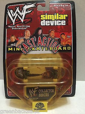 (TAS008503) - WWF WWE Fast Action Mini Skateboard Collectors Series - Mankind, , Action Figure, Wrestling, The Angry Spider Vintage Toys & Collectibles Store