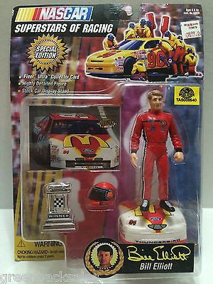 (TAS008540) - NASCAR Superstars of Racing Figure - Bill Elliott, , Action Figure, Nascar, The Angry Spider Vintage Toys & Collectibles Store