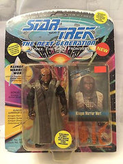 (TAS001050) - Playmates Star Trek The Next Generation - Klingon Warrior Worf, , Action Figure, Star Trek, The Angry Spider Vintage Toys & Collectibles Store