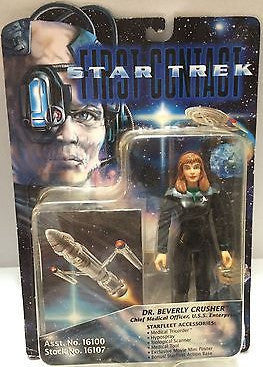 (TAS004760) - Playmates - Star Trek First Contact - Dr. Beverly Crusher, , Action Figure, Star Trek, The Angry Spider Vintage Toys & Collectibles Store