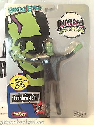 (TAS030474) - JusToys Bend-Ems Universal Monsters - Frankenstein, , Action Figure, Just Toys, The Angry Spider Vintage Toys & Collectibles Store