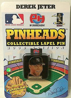 (TAS031468) - MLB - Pinheads Collectible Lapel Pin  - Derek Jeter NY Yankees, , Pins, MLB, The Angry Spider Vintage Toys & Collectibles Store