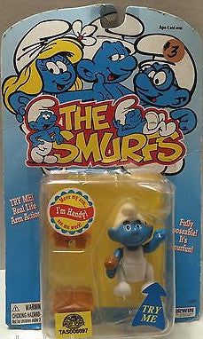 (TAS006697) - Irwin The Smurfs Action Figure - Handy, , Action Figure, The Smurfs, The Angry Spider Vintage Toys & Collectibles Store