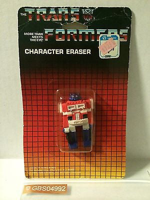 (TAS030525) - 1985 Spindex Hasbro - The Transformers Eraser - Optimus Prime, , Pencil, Transformers, The Angry Spider Vintage Toys & Collectibles Store