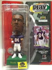 (TAS008650) - Collectible NFL Special Edition Play Makers - Randy Moss Bobble He, , Action Figure, NFL, The Angry Spider Vintage Toys & Collectibles Store