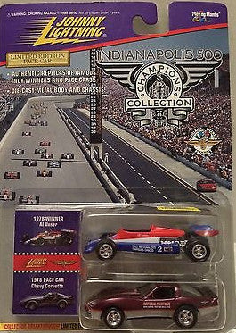 (TAS003407) - Johnny Lightning Indianapolis 500 '78  Al Unser & Chevy Corvette, , Trucks & Cars, Johnny Lightning, The Angry Spider Vintage Toys & Collectibles Store