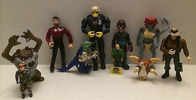 (TAS009124) - Mixed Action Figure Lot - Tazmanian Devil, Star Trek, Gremlin, , Sports, Varies, The Angry Spider Vintage Toys & Collectibles Store