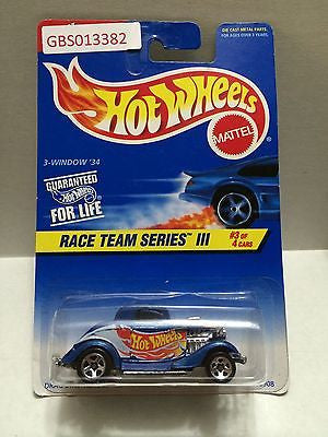 (TAS030924) - Hot Wheels 3 Window '34 Race Team Series III 3/4, , Cars, Hot Wheels, The Angry Spider Vintage Toys & Collectibles Store