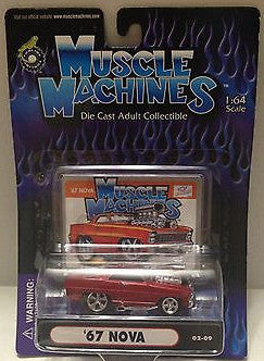 (TAS010288) - 2000 Muscle Machines Die Cast Collectible Car - '67 Nova, , Trucks & Cars, Muscle Machine, The Angry Spider Vintage Toys & Collectibles Store  - 1