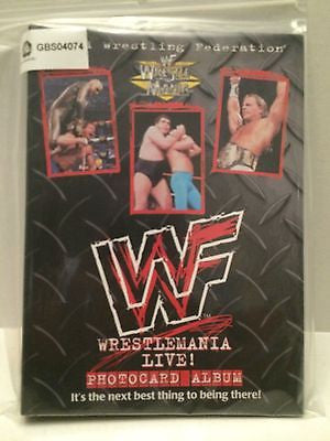 (TAS031306) - WWF WWE LJN WrestleMania Live! Photocard Album, , Other, Wrestling, The Angry Spider Vintage Toys & Collectibles Store