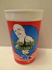(TAS030485) - 1985 WWF WWE LJN Titan Sports Cup - King Kong Bundy, , Drinkware, Wrestling, The Angry Spider Vintage Toys & Collectibles Store