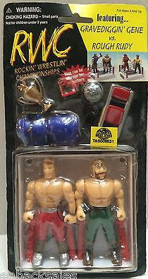 "(TAS008531) - RWC ""Rockin' Wrestlin"" Championships"" Figures - G. Gene & R. Rudy, , Action Figure, Wrestling, The Angry Spider Vintage Toys & Collectibles Store"