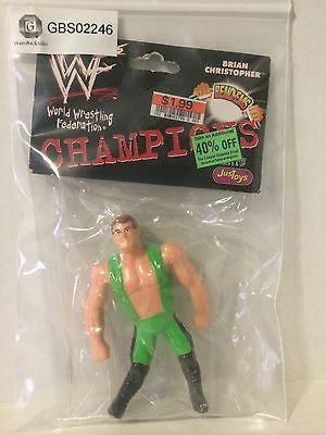 (TAS031463) - WWE WCW WWF Wrestling Bend-Ems Champions - Brian Christopher, , Action Figure, Wrestling, The Angry Spider Vintage Toys & Collectibles Store