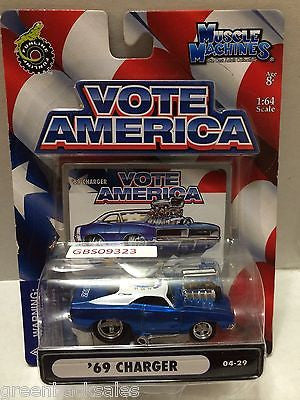 (TAS030817) - Funline Muscle Machines Vote America Die Cast Car - '69 Charger, , Cars, Muscle Machines, The Angry Spider Vintage Toys & Collectibles Store