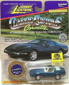 (TAS008736) - Johnny Lightning Die-Cast Classic Customs - 1982 Corvette T-Top, , Trucks & Cars, Johnny Lightning, The Angry Spider Vintage Toys & Collectibles Store