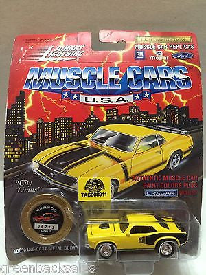 (TAS008911) -  Johnny Lightning Muscle Cars - 1971 Hemi Cuda, , Trucks & Cars, Johnny Lightning, The Angry Spider Vintage Toys & Collectibles Store