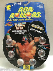 (TAS007014) - 1990 Spectra Star WWF Wrestling Rad Rollors Marbles - Hogan, , Marbles, Spectra Star, The Angry Spider Vintage Toys & Collectibles Store