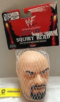 (TAS031197) - WWE WWF Wrestling Attitude Squirt Head Stone Cold Steve Austin, , Other, Wrestling, The Angry Spider Vintage Toys & Collectibles Store
