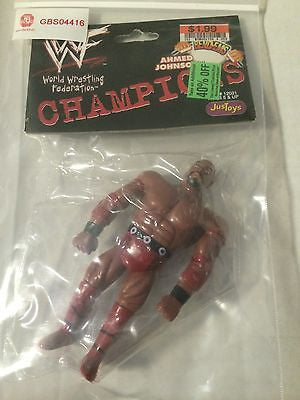 (TAS031469) - WWE WWF WCW JusToys Wrestling Bend-Ems - Ahmed Johnson, , Action Figure, Wrestling, The Angry Spider Vintage Toys & Collectibles Store