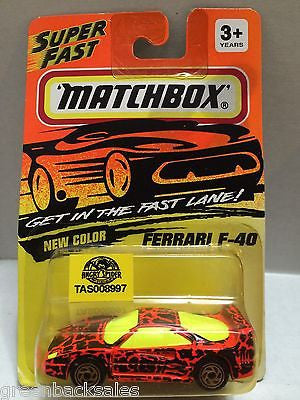 (TAS008997) - Matchbox Die-Cast Cars - Ferrari F-40, , Cars, Matchbox, The Angry Spider Vintage Toys & Collectibles Store