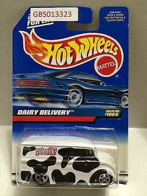 (TAS030907) - Mattel Hot Wheels Car - Dairy Delivery, , Cars, Hot Wheels, The Angry Spider Vintage Toys & Collectibles Store