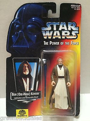 (TAS008134) - Hasbro Star Wars Power of the Force Figure - Ben (Obi-Wan) Kenobi, , Action Figure, Star Wars, The Angry Spider Vintage Toys & Collectibles Store