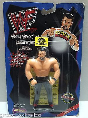 (TAS008362) - WWF WWE WCW nWo Wrestling JusToys Bend-Ems Figure - Steve Blackman, , Action Figure, Wrestling, The Angry Spider Vintage Toys & Collectibles Store